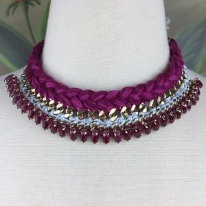 LOFT Braided Chunky Gold Toned Collar Necklace